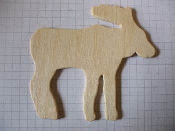 Birch Ply Wooden Moose Wood Craft Shape 7.5cm